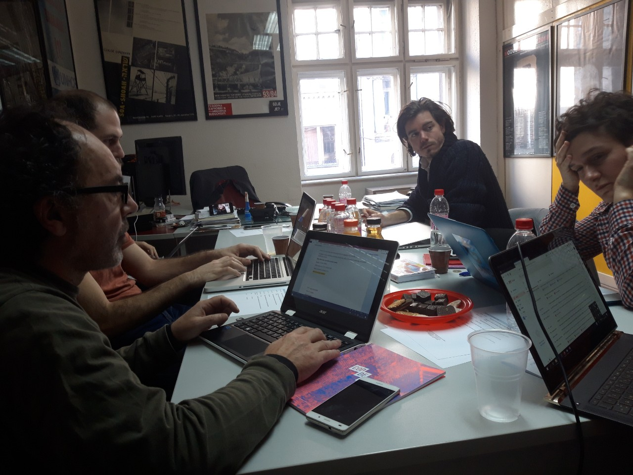Joseba Lazkano, ACT Festival director, in the Shift Key meeting in Sarajevo the 28th of November