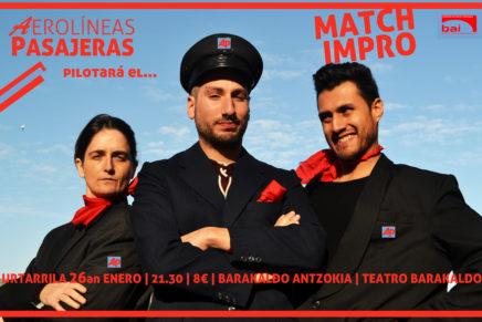 [BIDEOA] Antzerki dema: urtarrilaren 26ean Match Impro, Barakaldo Antzokia